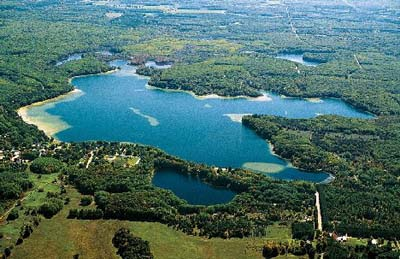 Aerial photo Lake Ann